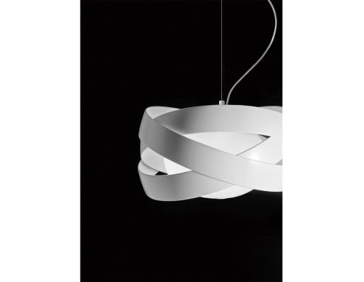 Siso 60 - Lampă suspendată de birou albă formată din 3 cercuri