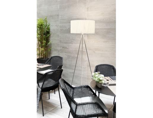 Twili - Lampadar cu abajur alb și structură din metal