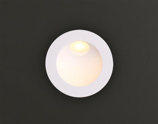 Time I - Lampă încastrată în perete rotundă din aluminiu