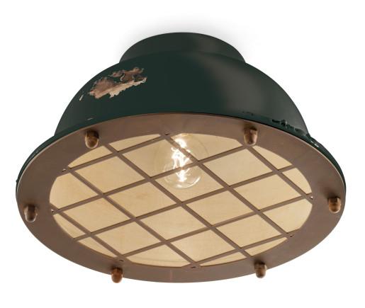 C1760 - Plafonieră din ceramică cu aspect retro și grilaj de protecție