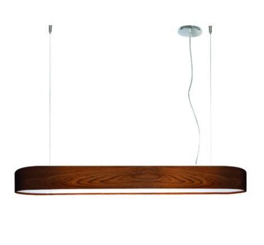 Ovla - Lampă suspendată de birou maro din lemn