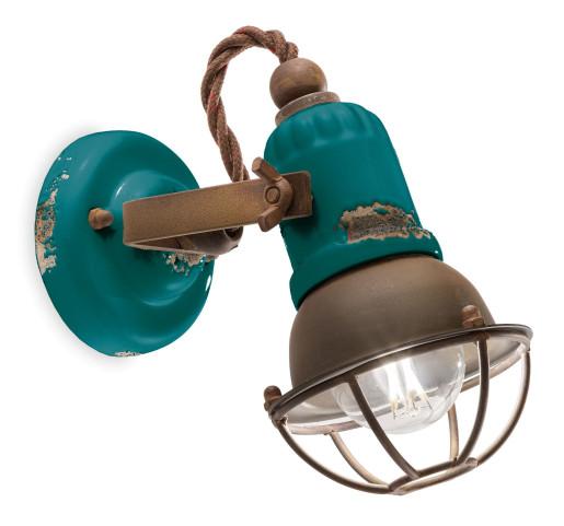 C1675/1 - Aplică din ceramică cu aspect retro și grilaj de protecție