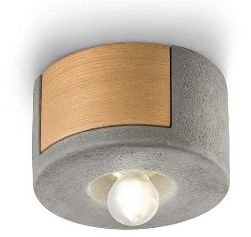 C1791 - Plafonieră gri sau albă din ceramică și lemn