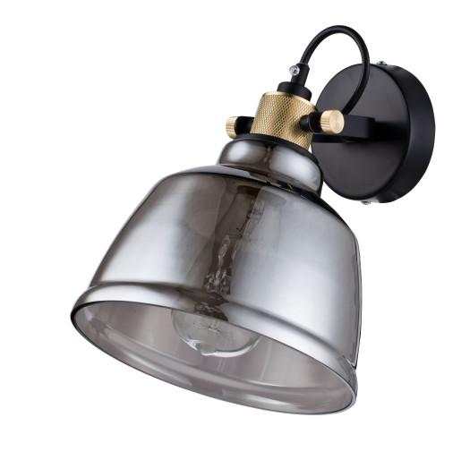 Irving I - Aplică din sticlă fumurie in stil industrial