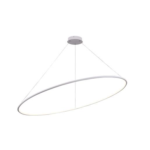 Nola 70 W - Lustră albă din metal în formă de cerc