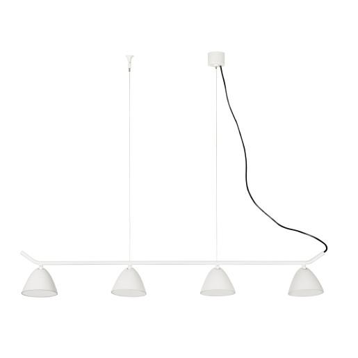 FLASH 4x10W LED - Lustră albă din aluminiu cu 4 surse de lumină