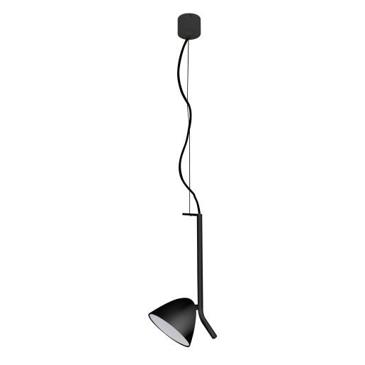 FLASH E 1 L LED 10W - Pendul negru din aluminiu