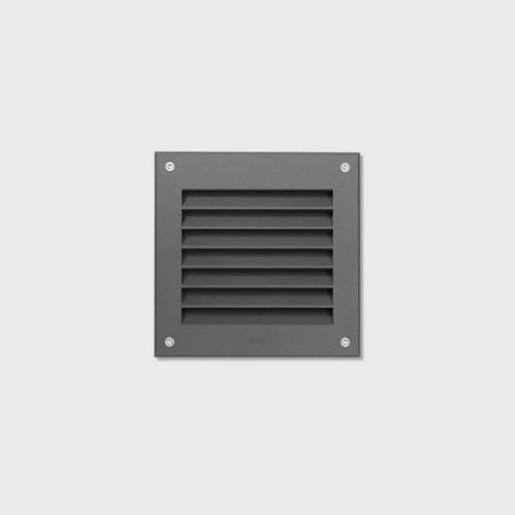 Bega lumină ecranată - Spot încastrat pătrat LED cu finisaj grafit