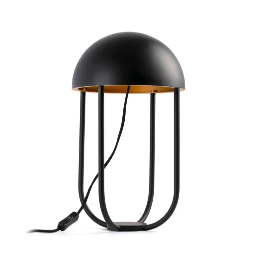JELLYFISH 6W - Lampă de masă neagră în forma de meduză cu finisaj auriu