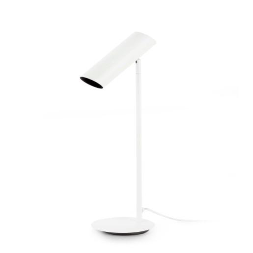 LINK 1xGU10 - Lampă de masă albă cu finisaj negru ajustabilă din oțel