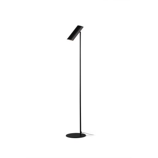 LINK 1xGU10 - Lampă de podea neagră ajustabilă din oțel