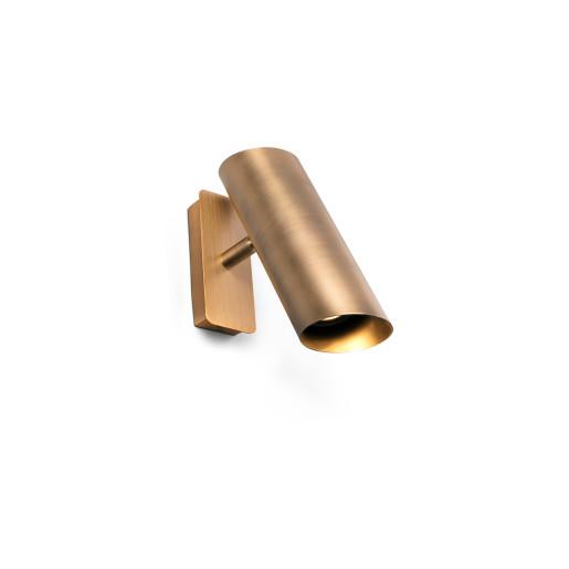 LINK 1xGU10 - Aplică cilindrică bronz ajustabilă din oțel