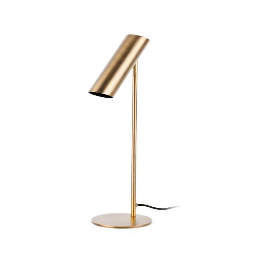 LINK 1xGU10 - Lampă de masă bronz cu finisaj negru ajustabilă din oțel