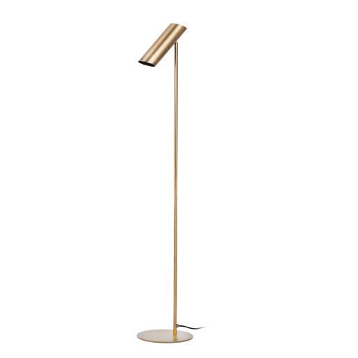 LINK 1xGU10 - Lămpă de podea bronz ajustabilă din oțel