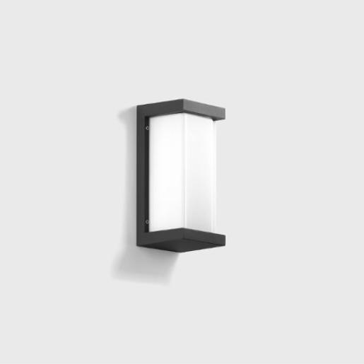 Bega 3.3W - Aplică de exterior LED paralelipipedică cu finisaj grafit