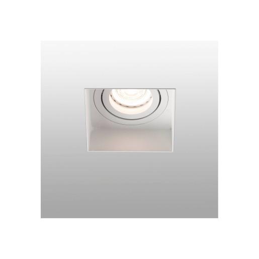 HYDE GU10 - Spot încastrat alb pătrat din metal