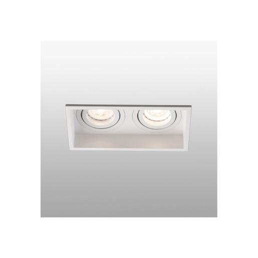 HYDE 2L GU10 IP44 - Spot încastrat alb rectangular cu 2 surse de lumină