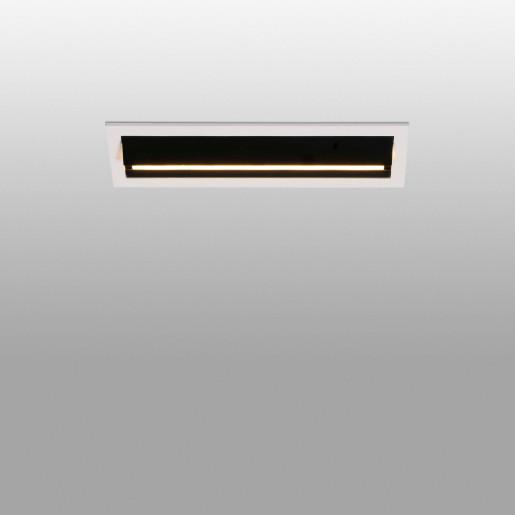 TROOP 5x2W - Spot încastrat negru cu ramă albă din aluminiu