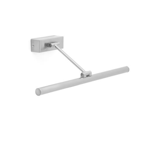 MAGRITTE 60CM LED 12W - Aplică cilidrică nichel cu efect mat din oțel