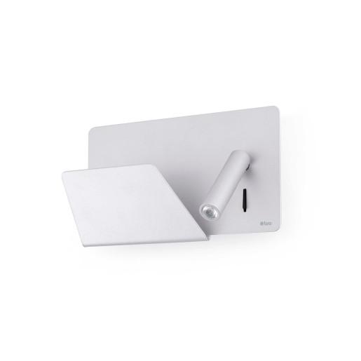 Suau LED - Aplică de citit din aluminiu cu suport pentru carte/tabletă