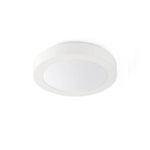 Logos 2 x E27 - Plafonieră de baie albă din PMMA și aluminiu cu 2 surse de lumină