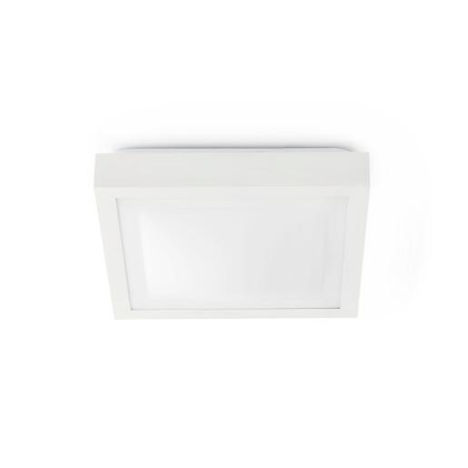 Tola 2 x E27 Alb - Plafonieră de baie albă din PMMA și aluminiu cu 2 surse de lumină