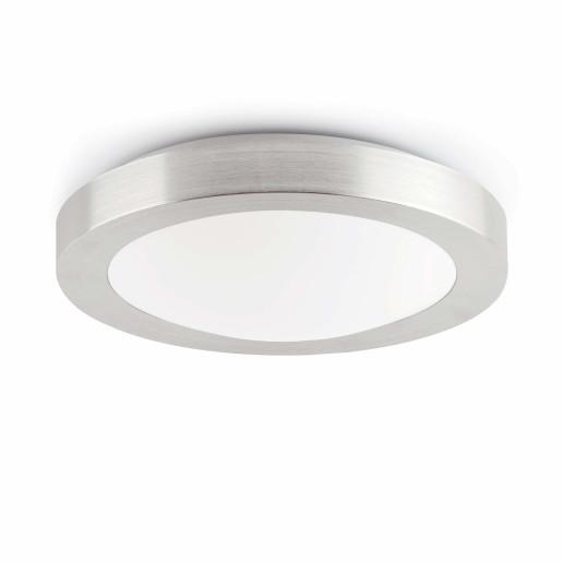 Logos 2 x E27- Plafonieră de baie argintie din PMMA și aluminiu cu 2 surse de lumină