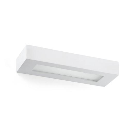 Olaf - Aplică albă rectangulară cu 2 surse de lumină