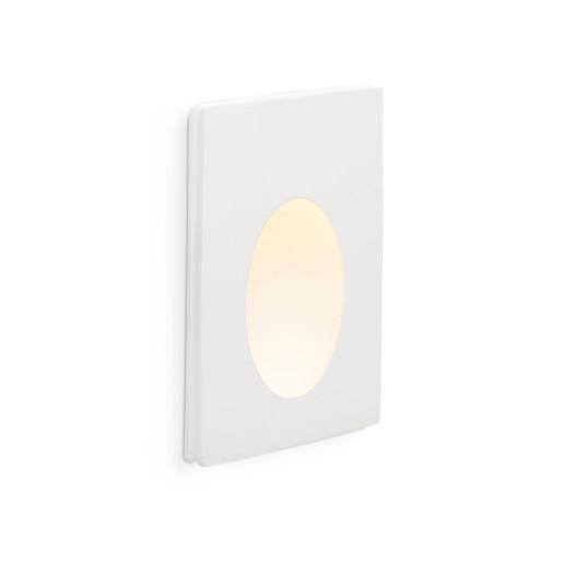 PLAS 1W 3000K LED II - Lampă încastrată în perete albă rectangulară din aluminiu