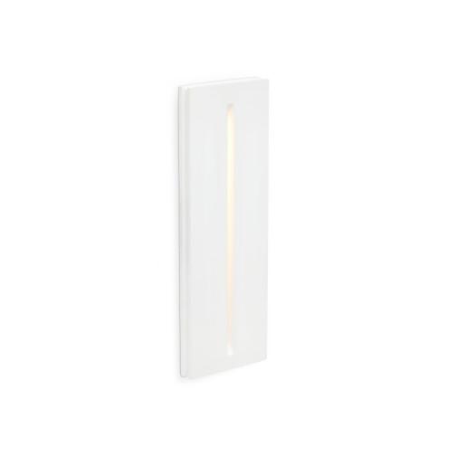 PLAS 1W LED - Lampă încastrată in perete albă rectangulară din aluminiu