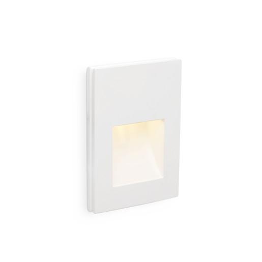 Plas 145 - Lampă incastrată in perete albă rectangulară