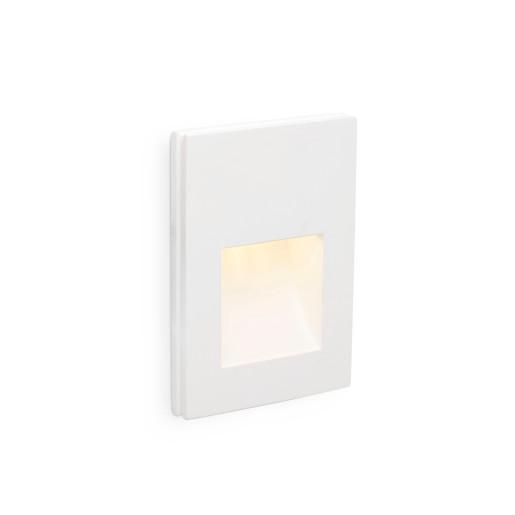PLAS 1W 3000K LED I - Lampă încastrată în perete albă rectangulară din aluminiu