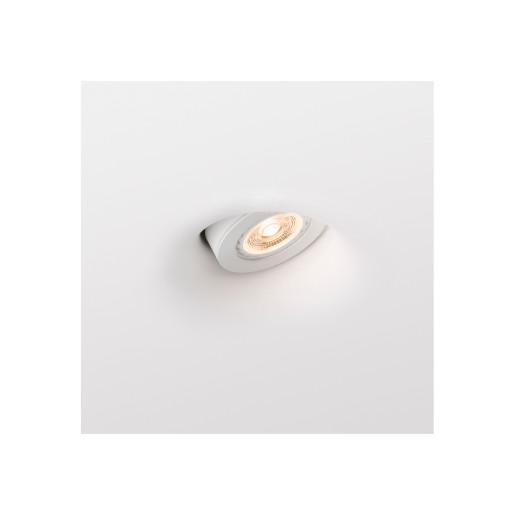 NEU MR16 - Lampă încastrată în perete albă rotundă