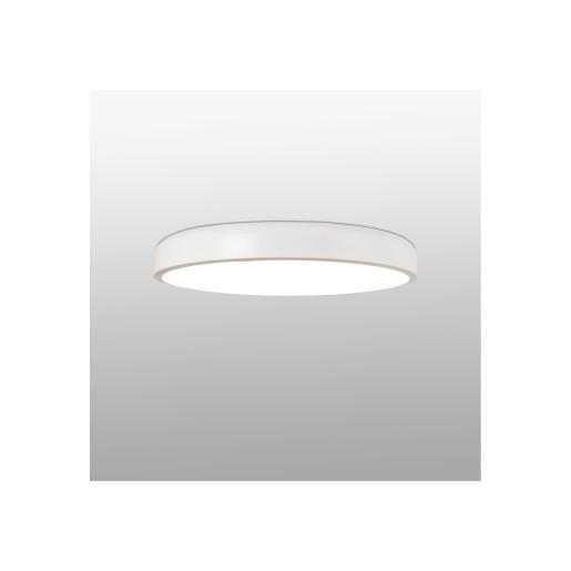 COCOTTE LED 36W - Plafonieră albă rotundă din metal