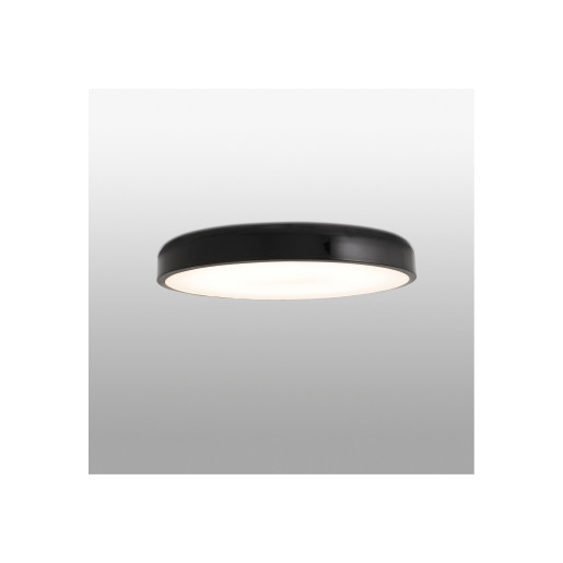 COCOTTE LED 36W - Plafonieră neagră rotundă din metal