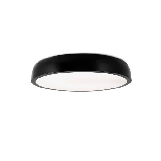 COCOTTE LED 30W - Plafonieră neagră rotundă din metal