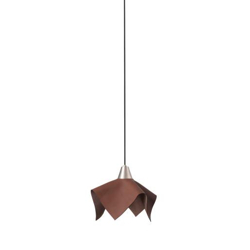 FAUNA LED 5W - Pendul maro cu textură de piele