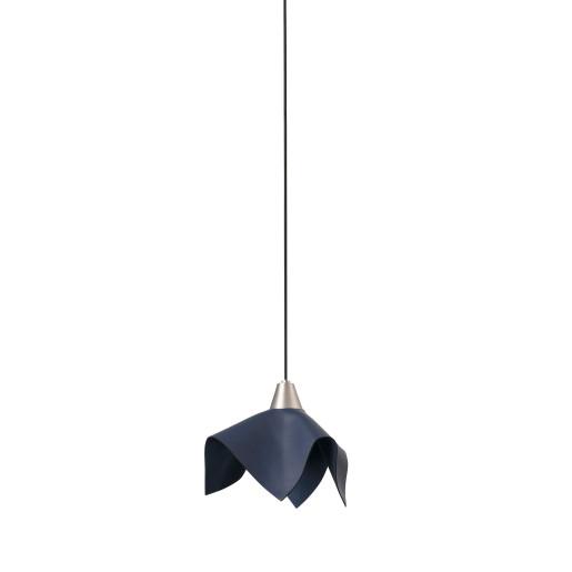 FAUNA LED 5W - Pendul albastru cu textură de piele