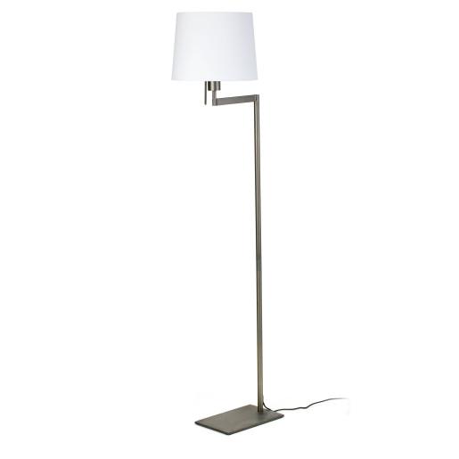 Artis - Lampă de podea bronz ajustabilă cu abajur din material textil