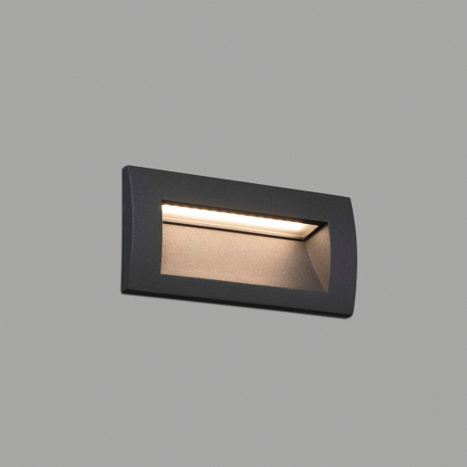 Sedna 70 LED - Lampă încastrată în perete gri din aluminiu