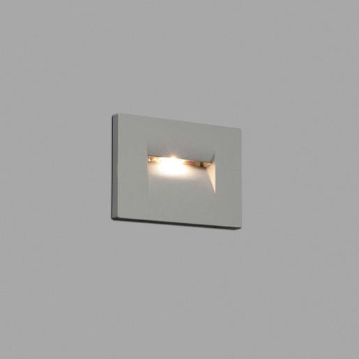 Horus 75 LED - Lampă încastrată în perete gri din aluminiu