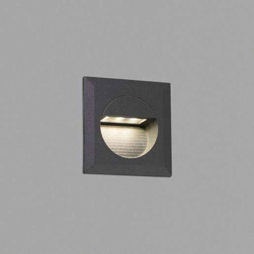 Mini Carter - Lampă încastrată în perete gri din aluminiu
