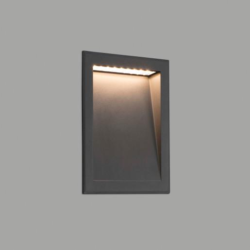 Soun 6 W - Lampă încastrată în perete gri din aluminiu