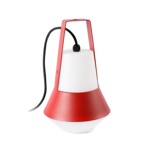 Cat - Lampă portabilă din aluminiu cu abajur alb