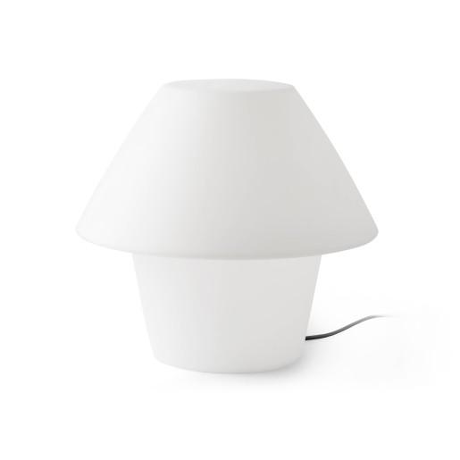 Versus - Lampadar alb din PEMD in formă de ciupercă