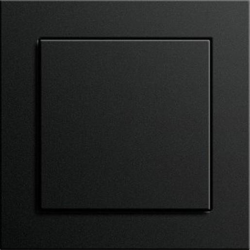 Întrerupător simplu GIRA E2 flat cu ramă simplă negru mat