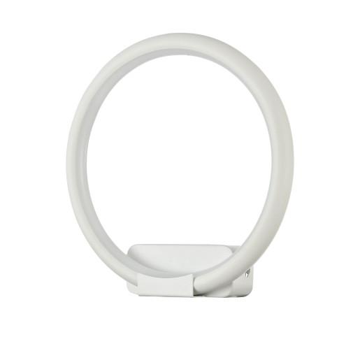 Nola 12 W - Aplică albă din metal în formă de cerc