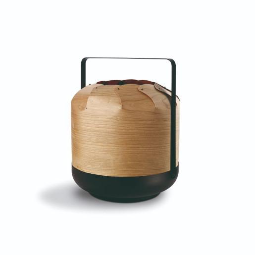 Chou Short - Lampă portabilă cilindrică din furnir