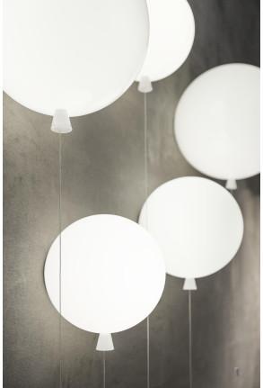 Memory - Aplică din sticlă în formă de balon alb mat