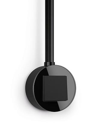 Întrerupator simplu GIRA Studio negru mat cu ramă simplă sticlă neagră